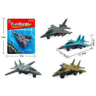 Letadlo stíhačka kovový model