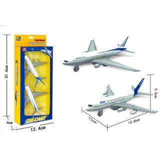 Letadlo civilní kovový model 2 ks