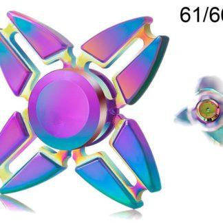 Spinner kovový duhový Crazy Gyro II