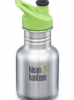 Dětská nerezová lahev Klean Kanteen Kid Classic w/Kid Sport Cap 3.0 - brushed stainless 355 ml