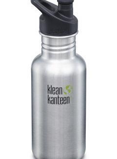 Nerezová lahev Klean Kanteen Classic w/Sport Cap 3.0 - brushed stainless 532 ml